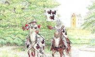 Nisbet Castle and Horsemen