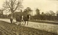 Ploughing the estate fields at Nisbet House