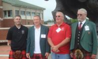L to R:  Nick & Tom Nesbitt, Pres. Guy Nisbet, Sec. Hal Nesbitt by Irene Petree
