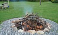 starting the bonfire!  yay! by Irene Petree