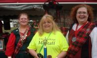 Teri & Beth awarded trophy for BEST CLAN TENT ! by Irene Petree